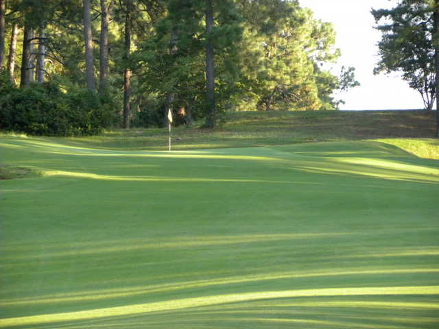 A view of the 4th green from fairway at Southern Pines Golf Club