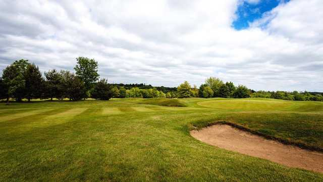 A view of a green at Colne Valley Golf Club.