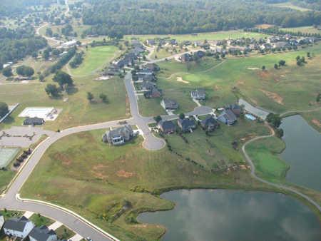 Aerial view from Larkin Golf Club