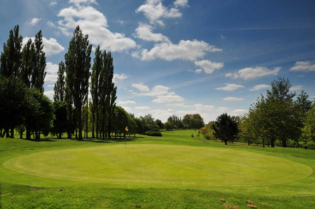 A view of a green at Market Harborough Golf Club.
