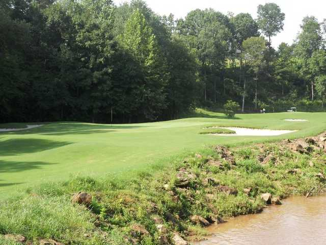 A view of hole #16 at Larkin Golf Club