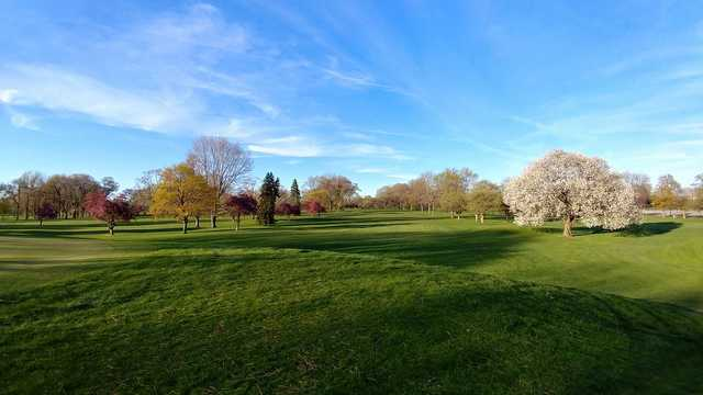 A spring day view from Maple Lane Golf Club.