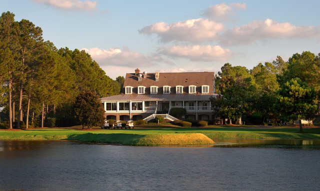 A view of the clubhouse at Sandpiper Bay Golf & Country Club