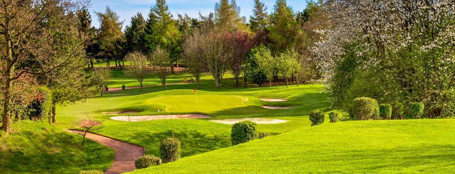 A view of the 3rd green at Knaresborough Golf Club.