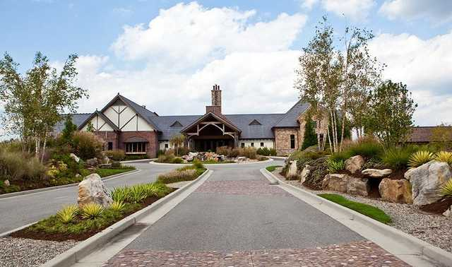 A view of the clubhouse at Thistle Golf Club