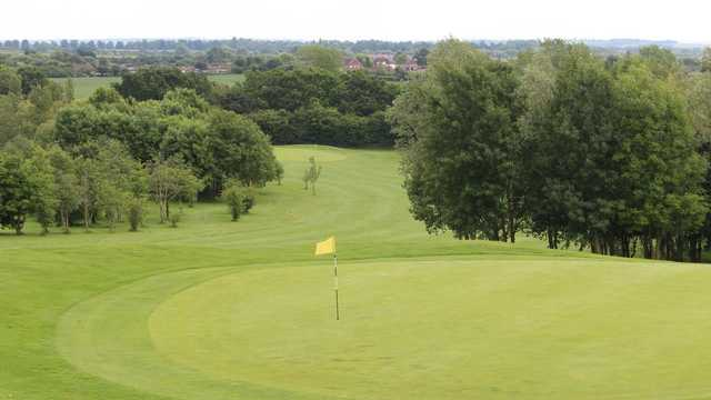 A view of a green at Mowsbury Golf Club.