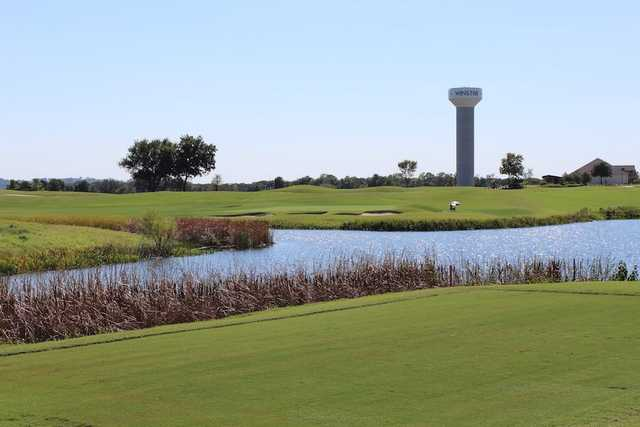 A view over the water from WinStar Golf Course.