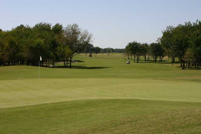 A view of a hole at WinStar Golf Course.