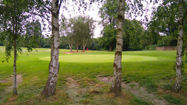A view of a hole at Whitewebbs Golf Club.