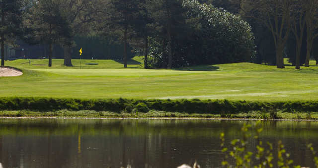A view of hole #9 at Maxstoke Park Golf Club.