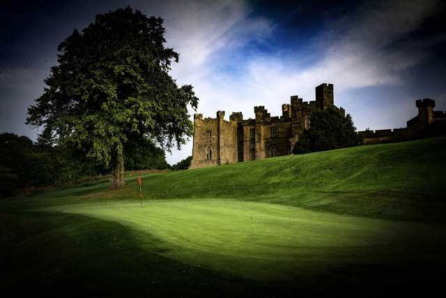 A view of a hole at Brancepeth Castle Golf Club.