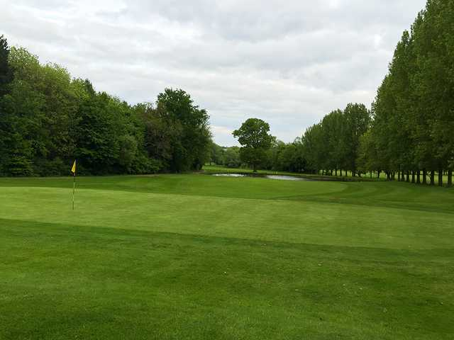 Looking back from a green at Stevenage Golf & Conference Centre
