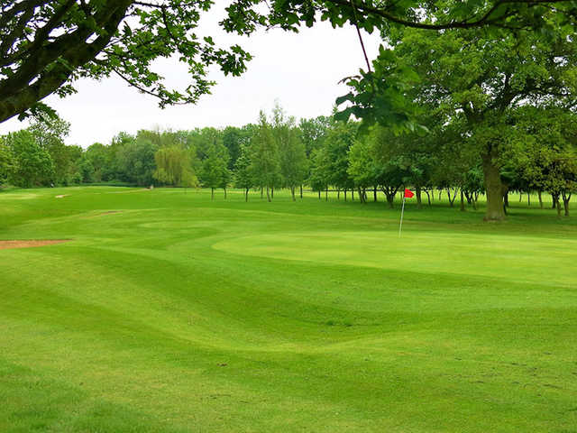A view of the 11th hole at Bourn Golf Club.
