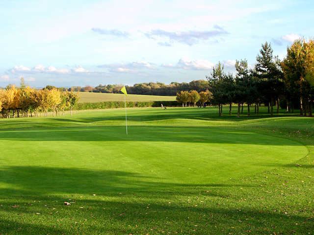 A view of hole #12 at Bourn Golf Club.