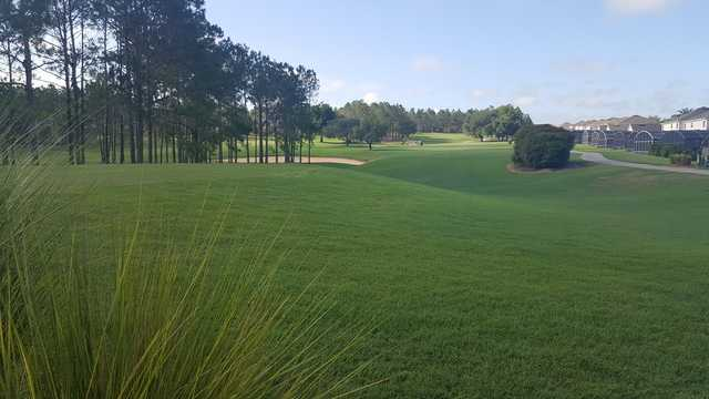 A view of a tee at Highlands Reserve Golf Club.