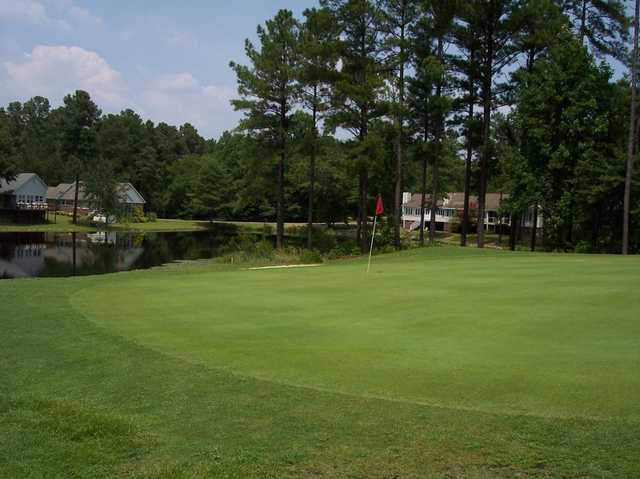 A view of a green at Deercroft Golf Club