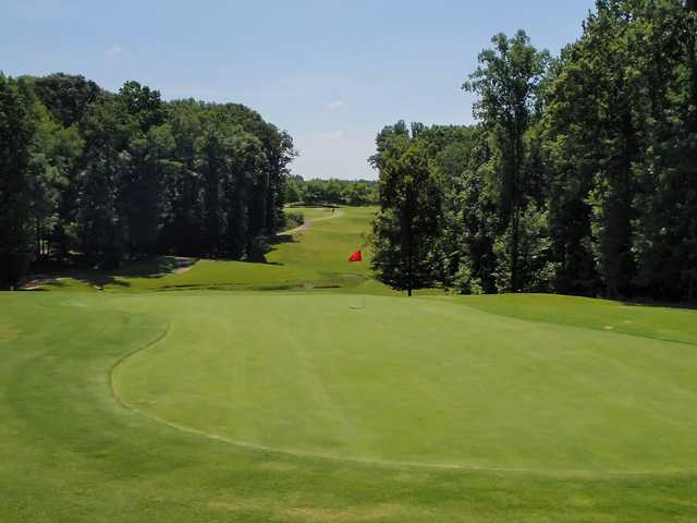 A view of the 16th green at Double Oaks Golf Club.