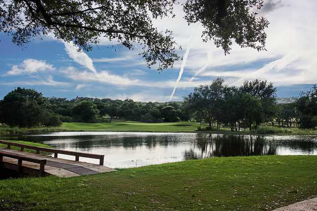 A view over the water from River Crossing Golf Club.