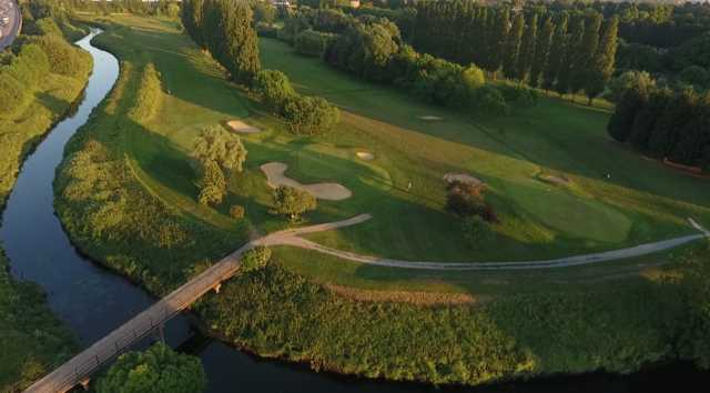 From left to right the 5th , 2nd and 17th green at Ilford Golf Club
