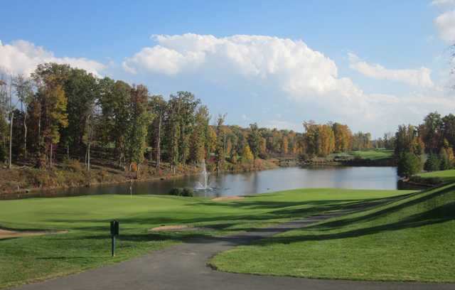 A fall day view from Stonewall Golf Club at Lake Manassas.