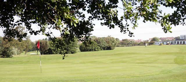 A view of a hole at Heysham Golf Club.