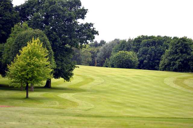 A view of fairway #7 at Ingestre Park Golf Club.