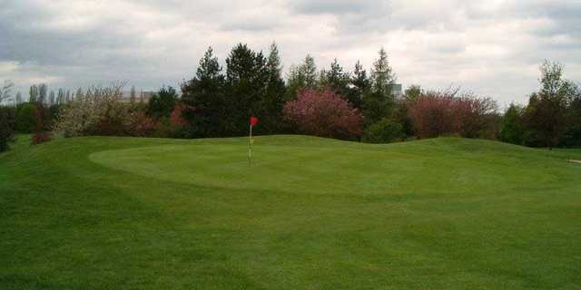 A view of the 12th green at Knebworth Golf Club.