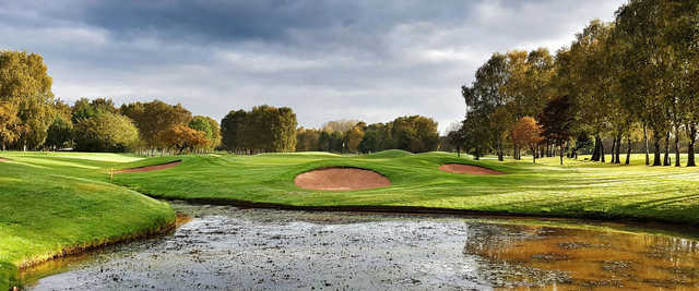 A fall day view of a hole at Swinton Park Golf Club.