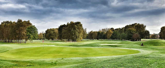 A view of a green at Swinton Park Golf Club.