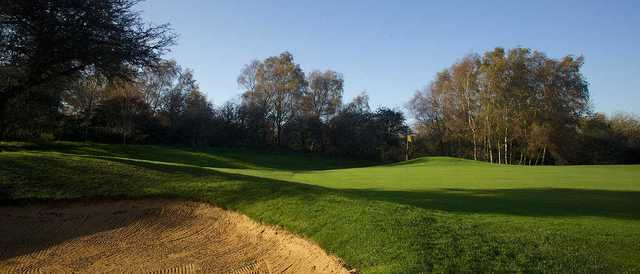 A view of hole #14 at Dyke Golf Club.