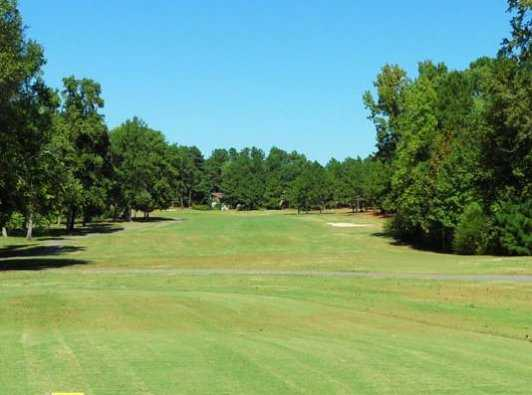 A view of green #13 at Whispering Woods Golf Course