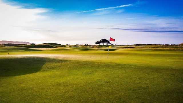 A view of a green at The Royal Dublin Golf Club.