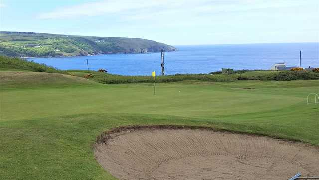 A view of a hole at Cardigan Golf Club.