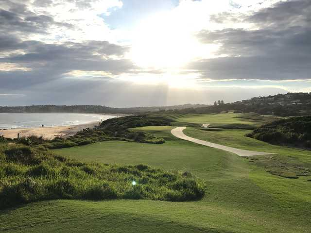 A view of a tee at Long Reef Golf Club.