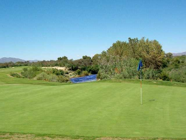 A view of a green at San Pedro Golf Course
