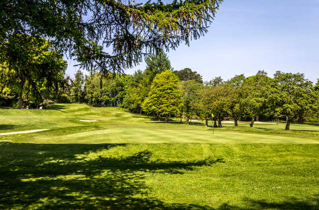 View of a green at Shandon Park Golf Club