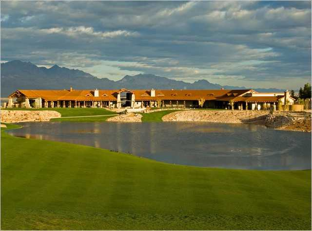 A view of the clubhouse at Laughlin Ranch Golf Club