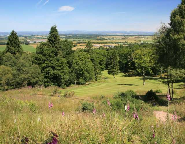 A view of a fairway at The Lynedoch Course from Murrayshall Golf Club.