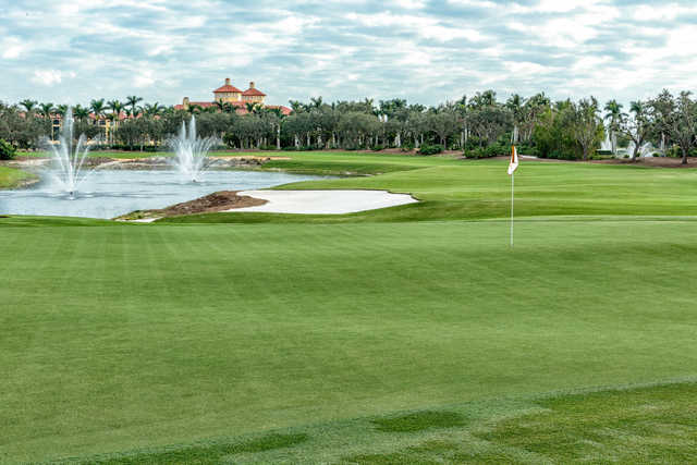 View of the 14th hole from the Black Course at Tiburón Golf Club