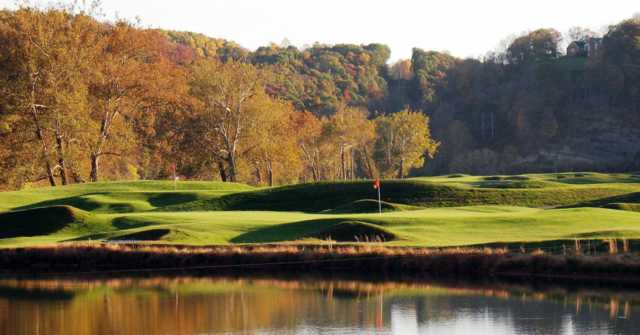 A view from Pete Dye River Course of Virginia Tech