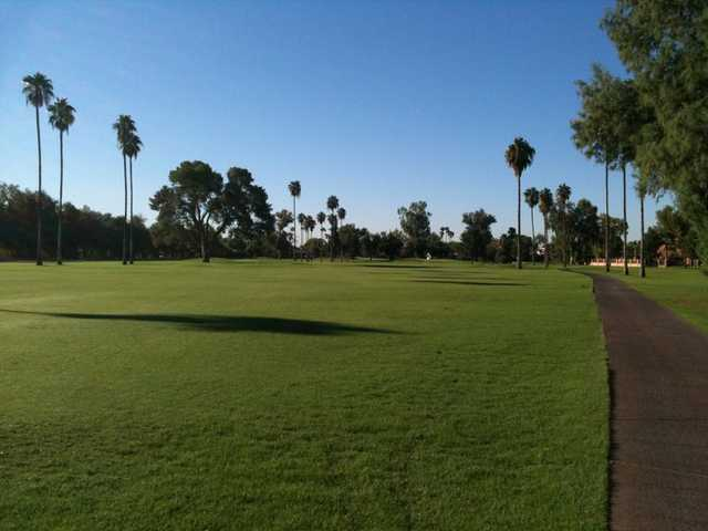 A view of fairway #10 at Crowne Plaza San Marcos Golf Resort