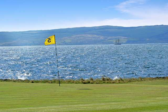 View from the 5th green at Shiskine Golf & Tennis Club