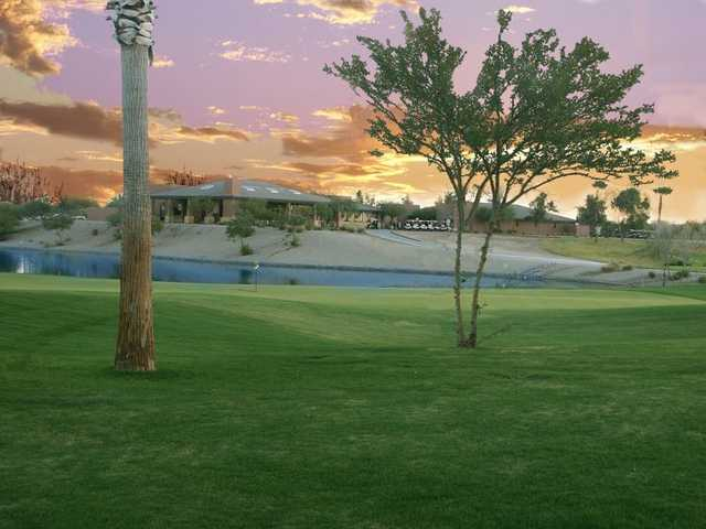 A view of the clubhouse at Lone Tree Golf Club