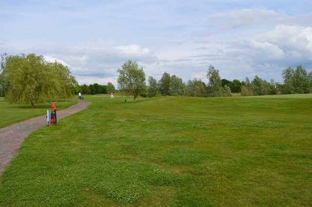 A view of a green at Cambridge Meridian Golf Club.