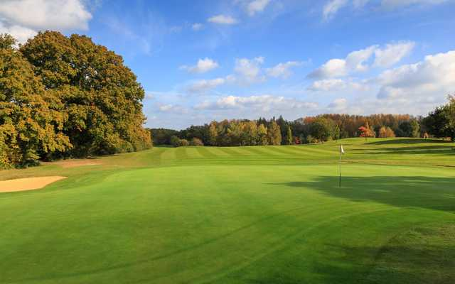 A view of the 10th hole at Chobham Golf Club.