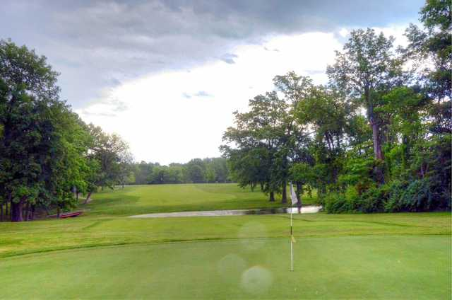 Looking back from green #12 at Lake of the Woods Golf Course
