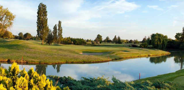 A view of a hole at Toulouse-Seilh Golf Club.
