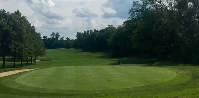 A view of a green at Duck Hollow Golf Club.