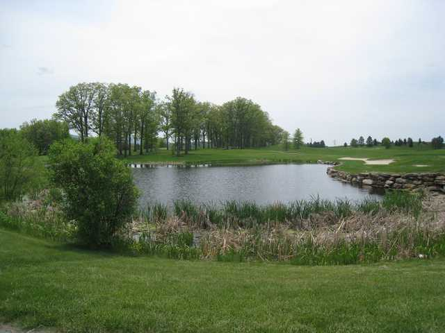 A view over the water from Chestnut Ridge Golf Resort & Conference Center.