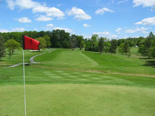 A view from green #7 at Hidden Valley Golf Course.